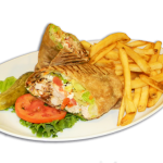 Chicken Wrap with Fries